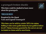 A gruengach broken shackle