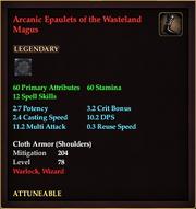 Arcanic Epaulets of the Wasteland Magus