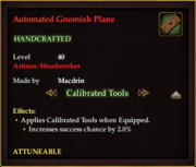 Automated Gnomish Plane