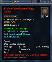 Blade of the Scorned High Guard