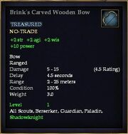 Brink's Carved Wooden Bow