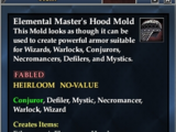 Elemental Master's Hood Mold