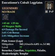 Executioner's Cobalt Legplates