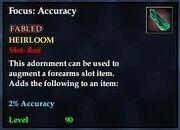 Focus accuracy