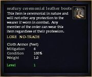 Seafury ceremonial leather boots