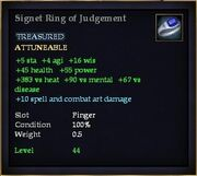 Signet Ring of Judgement