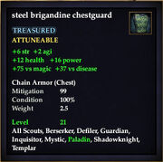 Steel brigandine chestguard