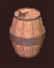 Upright-oak-keg