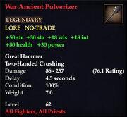 War Ancient Pulverizer