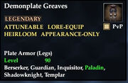 Demonplate Greaves