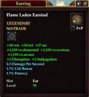 Flame Laden Earstud
