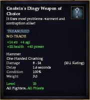 Gnobrin's Dingy Weapon of Choice