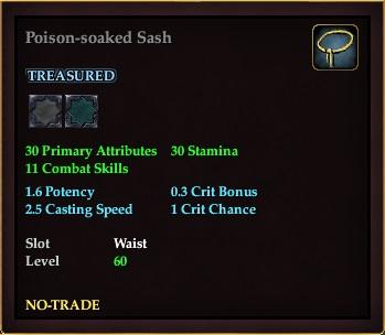 Poison-soaked Sash