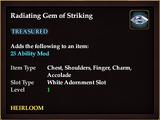 Radiating Gem of Striking