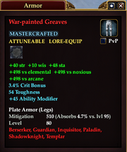 War-painted Greaves