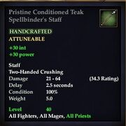 Conditioned Teak Spellbinder's Staff