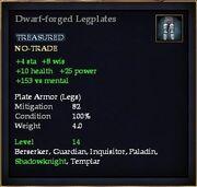 Dwarf-forged Legplates