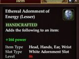 Ethereal Adornment of Energy (Lesser)