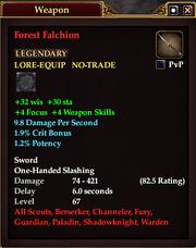 Forest Falchion