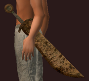 Imbued Iron Falchion (Equipped)