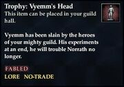 Trophy Vyemms head