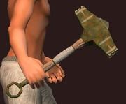 Vulcanic Battle Hammer (Equipped)