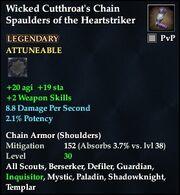 Wicked Cutthroat's Chain Spaulders of the Heartstriker