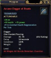 Arcane Dagger of Beasts