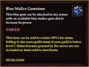 Blue Malice Gemstone (Heirloom)