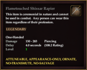Flametouched Shissar Rapier