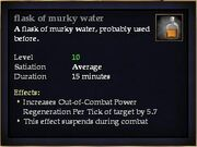 Flask of murky water