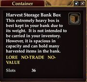 Harvest Storage Bank Box