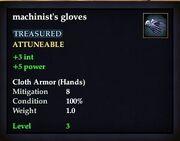 Machinist's gloves