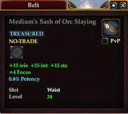 Medium's Sash of Orc Slaying