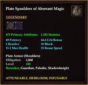 Plate Spaulders of Aberrant Magic