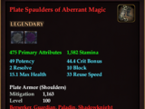 Plate Spaulders of Aberrant Magic