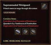 Superannuated Wristguard