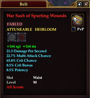 War Sash of Spurting Wounds