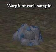Warpfont rock sample