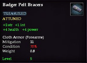 Badger Pelt Bracers