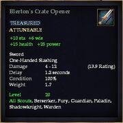 Blerton's Crate Opener