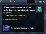 Encrusted Essence of Water