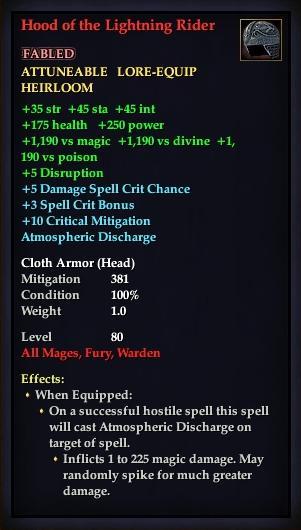 Hood of the Lightning Rider | EverQuest 2 Wiki | FANDOM