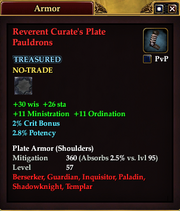 Reverent Curate's Plate Pauldrons