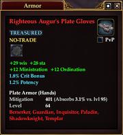 Righteous Augur's Plate Gloves