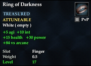 Ring of Darkness (Fallen Gate)