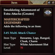 Smoldering Adornment of Extra Attacks (Greater)