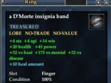 A D'Morte insignia band (Level 20)