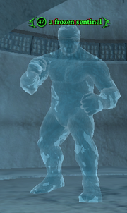 A frozen sentinel