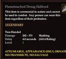 Flametouched Droag Halberd
